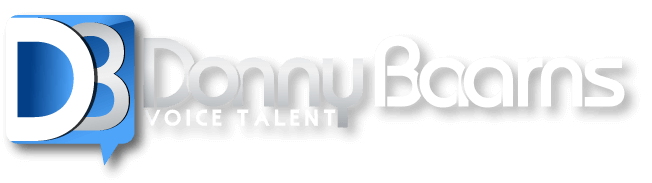 Donny Baarns The Millennial, Cool-Nerd, Guy-Next-Door Voice Branding Logo
